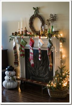 Just bought these stockings for the kids... just pinning to see how they look on the mantle IRL.