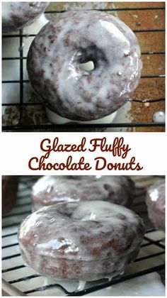 Glazed Fluffy Chocolate Donuts Thebakingchocolatess Com - Glazed Donuts Are Just So Classic And Popular Glazed Fluffy Chocolate Donuts Take It To The Next Level Holla They Are The Best Fluffy Cake Donuts I Swear These Donuts Roar Omg Just L Easy Donut Recipe, Baked Donut Recipes, Baked Doughnuts, Baking Recipes, Donuts Donuts, Köstliche Desserts, Delicious Desserts, Dessert Recipes, Dessert Blog