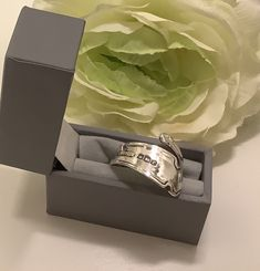 Excited to share this item from my #etsy shop: Sterling Silver Vintage Spoon Ring #silver #women #artnouveau #upcycledspoonring #spoonring #womens #jewelleryideas #present Vintage Cutlery, Spoon Rings, Art Nouveau, Rings For Men, Wedding Rings, Etsy Shop, Engagement Rings, Sterling Silver, Antiques