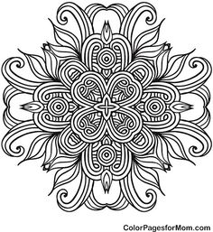 Mandala 41 Coloring Page - (colorpagesformom)