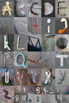 pinterest.com/fra411 #typographic - ALPHABITUMES 02  Les ALPHABITUMES sont des lettres captées  sur le bitume !