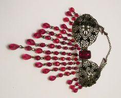 Czech Bead Necklace , Choker Necklace , Vintage Style Necklace by Rosestyle on Etsy