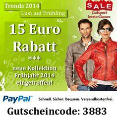 15 Euro Rabatt - Ledertrends 2014