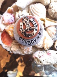 Hand Stamped Pet ID tags cowboy tag cowboy lover cowboy gift