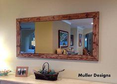 Handmade Wood Mirror 177cm x 77cm by MuellerDesignsEU on Etsy