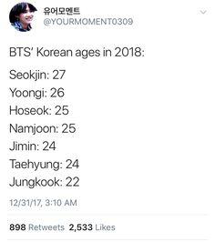 Seokjin, Hoseok, Namjoon, Taehyung, Bts Ages, Korean Age, Christian Men, About Bts, Bts Wallpaper