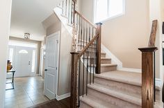 Braebury Model home - view of stairs to second floor
