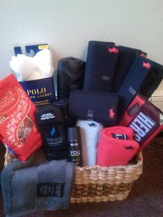 Small Polo Basket Valentine Baskets Day Gifts For My Boyfriend Birthday