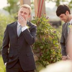 grooms reaction first time seeing you  Every woman's dream to see the groom with this expression on his face <3