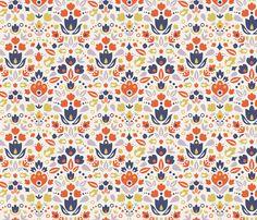 Abstract Tulips fabric by oksancia on Spoonflower - custom fabric