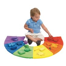 Discount School Supply - Color Sorting Mat - 20 pieces.  I like the idea of making or buying a color mat for color recognition.