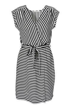 czarno-biały - Sukienka Lucelia paski AGGI