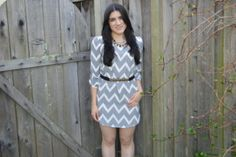Absolutely Adorable Look for Under $60.00!! Chevron Dress $24, Necklace $20, Belt $10