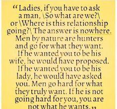 Men are hunters