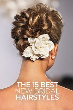 One statement making bloom takes this bride's pretty hairstyle to the next level. Hair Accessories, Bridal Hairstyles