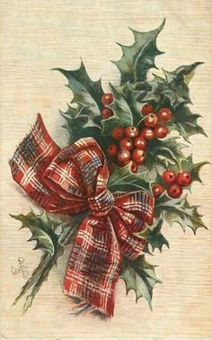buon natale frohe weihnachten joyeux noel feliz navidad frohe weihnachten g Vintage Christmas Images, Victorian Christmas, Vintage Holiday, Christmas Pictures, Tartan Christmas, Noel Christmas, Christmas Greetings, Christmas Crafts, Christmas Place