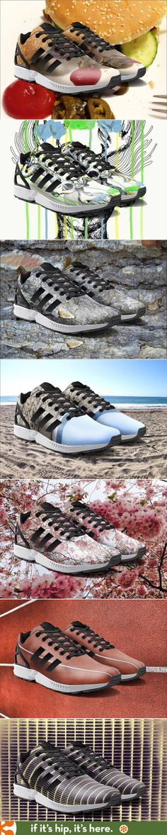 Come August, you can print your own photos or art on Adidas ZX Flux via an app!