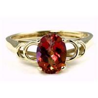 Twilight Fire Topaz Gold Ring