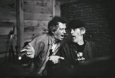 Keith Richards & Levon Helm have a warble, via Flickr. photo by Jim Herrington
