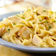 QUICK CREAMY CHICKEN AND NOODLES Cream of chicken and mushroom soups combines with chicken, noodles and Parmesan cheese to make a delicious, family-friendly dinner in just 25 minutes. Creamy Chicken And Noodles, Cream Of Chicken Soup, Chicken Noodles, Cooked Chicken, Chicken Pasta, Cheesy Chicken, Amish Chicken, Chicken And Egg Noodles Recipe Easy, Parmesan Noodles