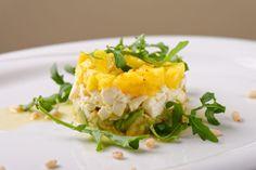 Mango salát s mozzarellou a kapustové makaróny Mozzarella, Avocado Salat, Brunch, Salad In A Jar, Baked Potato, Risotto, Entrees, Mashed Potatoes, Cooking Recipes