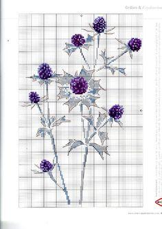 Fleurs des Dunes 2 of 2 Cross Stitch Fruit, Cross Stitch Kitchen, Just Cross Stitch, Cross Stitch Flowers, Cross Stitch Charts, Cross Stitch Patterns, Diy Embroidery, Cross Stitch Embroidery, Blackwork