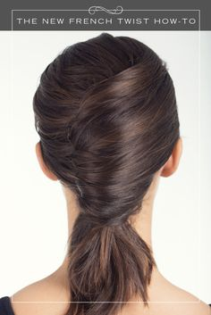 A twist on the classic french twist.
