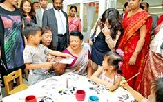 First Lady Shiranthi Rajapaksa who is in China on the invitation of the Vice Chairman of the Standing Committee of the National Peace Congress and President of All China Women's Federation Shen Yueyeu, visited the Don Ghuamen Pre-school. The First Lady who witnessed the activities of the pre-school children gave away gifts to the students and teachers. Parliamentarian Kamala Ranatunga and Sri Lanka's Ambassador to China Ranjith Uyangoda and Mrs. Rekha Gunasekera were also present on the ...