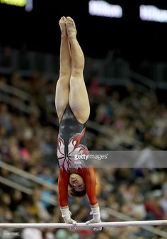 Mai Murakami of Japan competes on the uneven parallel bars during the 2016 ATT American Cup on March 5 2016 at Prudential Center in Newark New Jersey Gymnastics Facts, All About Gymnastics, Gymnastics Images, Gymnastics Problems, Gymnastics Posters, Acrobatic Gymnastics, Sport Gymnastics, Olympic Gymnastics, Olympic Badminton