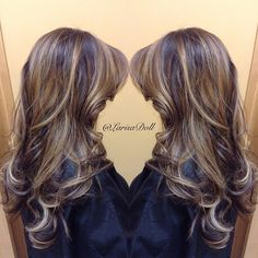 #ShareIG (No filter) Dramatic balayage blend between both colors. Medium beige base with light golden beige balayaged highlites. Haircut & quickstyle. #hairbylarisalove