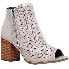 3d45abcbd83a Buy Miss KG Sasha Mid Heel Ankle Boots, Taupe Online at johnlewis.com Flat