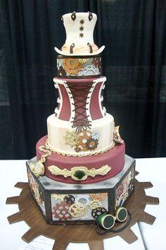 Steampunk Wedding Cake.... Legacy Cakes Bakery