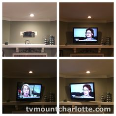Types of Installations Standard Fireplace Fireplace with niche Basic wall Corner Outdoor Ceiling Bathroom TV mount with components concealed in closet/cabinet www.tvmountcharlotte.com