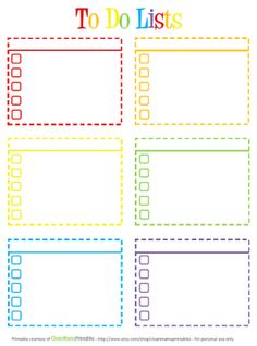 Blank List  Half Page  Free Printable Binder And Organizing