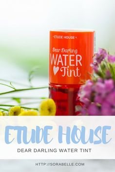 Etude House Dear Darling Water Tint in Orange-Ade has a sheer color payoff that dries down to a stain lip finish for a natural and polished look. Click through to find out more about it