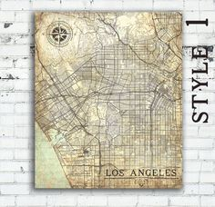 LOS ANGELES Canvas Print CA California La by NatalyBorichArt
