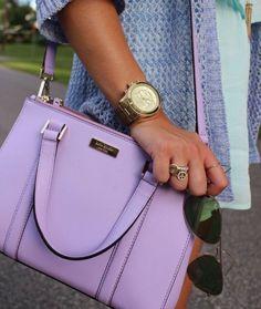 purple kate spade purse ((: