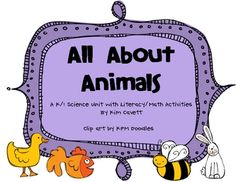 Types of Animals Web and Information Charts (pp. 3-9)Mammal or Not a Mammal Game (pp.10-14)Graphing with Animals Game (pp.15-17)Animals...