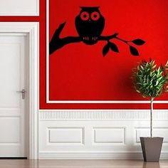 Cute Hoot Owl Vinyl Wall Decal