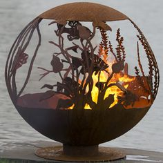 """Red Lake 37"""" Hand Crafted Steel Fire Pit 