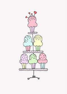 cupcakes printable by Lonnie Jacobsen