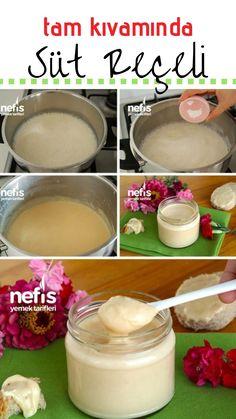 Süt Reçeli Tarifi (videolu) nasıl yapılır? 14.524 kişinin defterindeki Süt Reçeli Tarifi (videolu)'un resimli anlatımı ve deneyenlerin fotoğrafları burada. Yazar: Pınar Kaya Delicious Desserts, Yummy Food, Tasty, Easy Cooking, Cooking Recipes, Turkish Recipes, Food Preparation, Beautiful Cakes, Food To Make