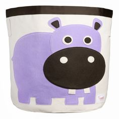 3 Sprouts Canvas Storage Bin - Laundry and Toy Basket for Baby and Kids, Hippo Nursery Storage Baskets, Toy Storage Bins, Toy Bins, Kids Storage, Easy Storage, Storage Cubes, Plastic Storage, Storage Organization, Storage Ideas