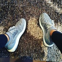 Comfy shoe day (like everyday)...it's gonna be a long one #gonnagetoverthehump #ultraboost #skincare #waxing #longclientlist #humpday #shoelover