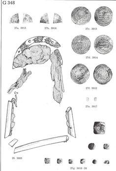 9-11th century Luistari, Finland. Grave 348 purse and weights.