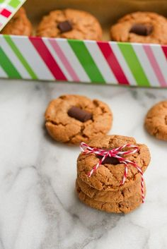 Flourless Vegan Peanut Butter Blossoms made with only six ingredients.