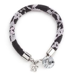 "Desirù ""Arsenic and old lace"" with Swarovski button #desirù #swarovski #bracelet #desirumilano #kimono #japan #milan #fashion"