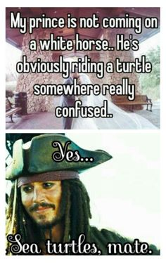 Captain Jack the prince ~Pirates of the Caribbean~ Johnny Depp, Jack Sparrow Quotes, Jack Sparrow Funny, Captain Jack Sparrow, Pirate Life, Disney Memes, Pirates Of The Caribbean, Disney And Dreamworks, Fandoms