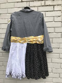 The Lena Jacket/Dress: Upcycled sustainable clothing art Denim Duster, Concert Tees, Sustainable Clothing, Jacket Buttons, Jacket Dress, Frocks, Boho Chic, Upcycle, Sequin Skirt