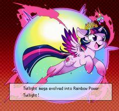 #709268 - artist:lustrous-dreams, mega evolution, parody, pokemon, princess twilight, rainbow power, safe, solo, twilight sparkle - Derpibooru - My Little Pony: Friendship is Magic Imageboard